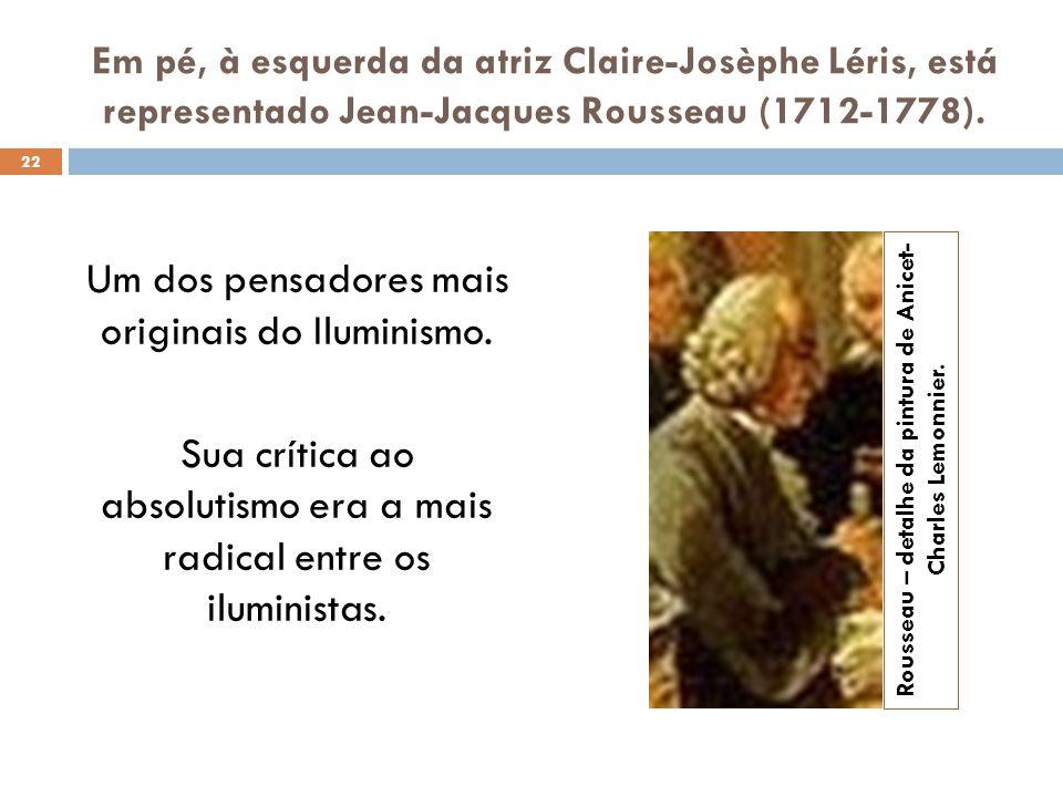 Rousseau – detalhe da pintura de Anicet-Charles Lemonnier.