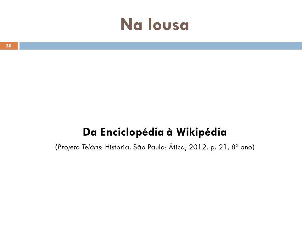 Da Enciclopédia à Wikipédia
