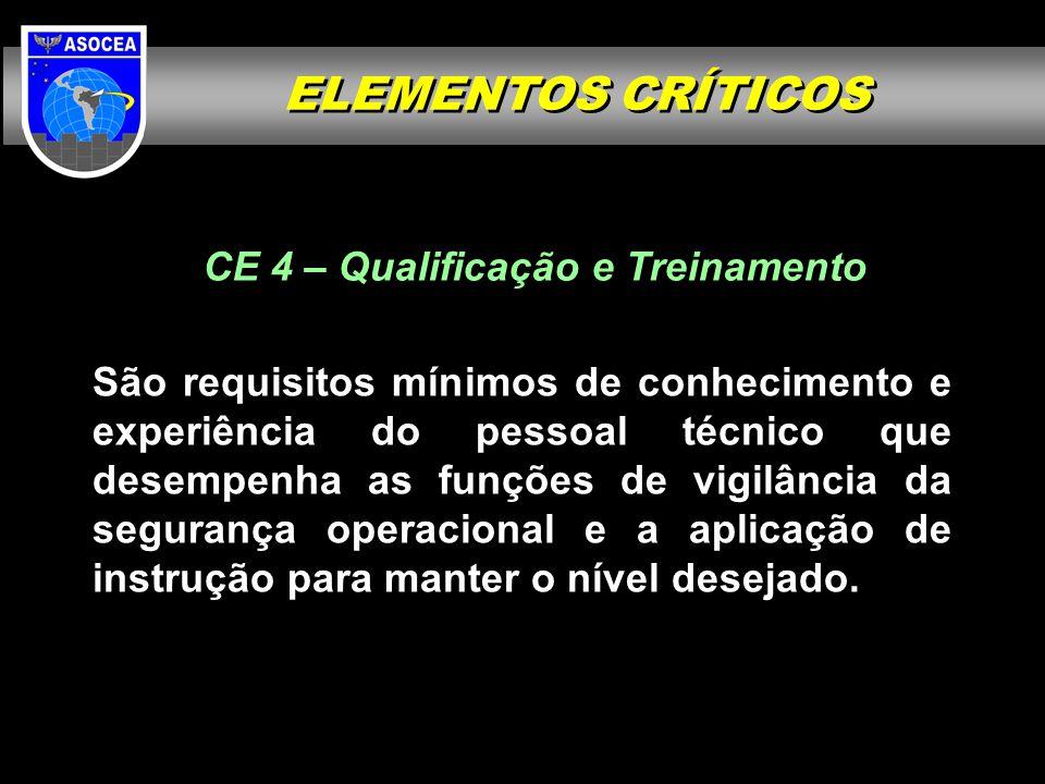 CE 4 – Qualificação e Treinamento