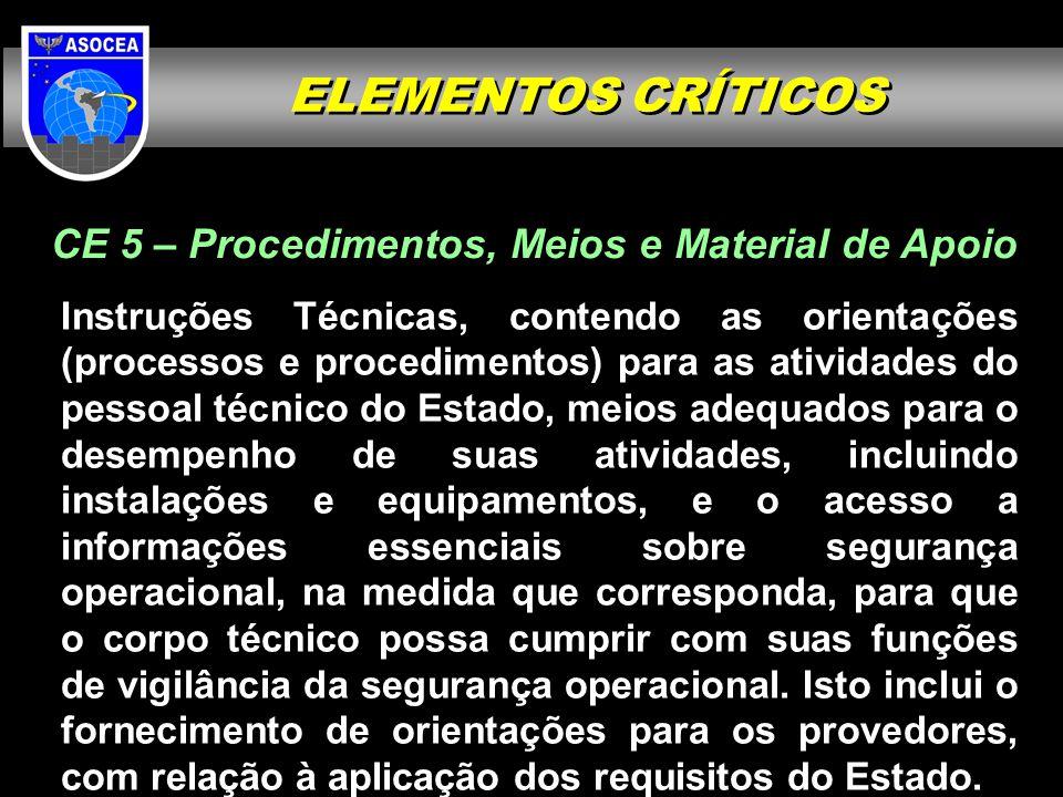 CE 5 – Procedimentos, Meios e Material de Apoio