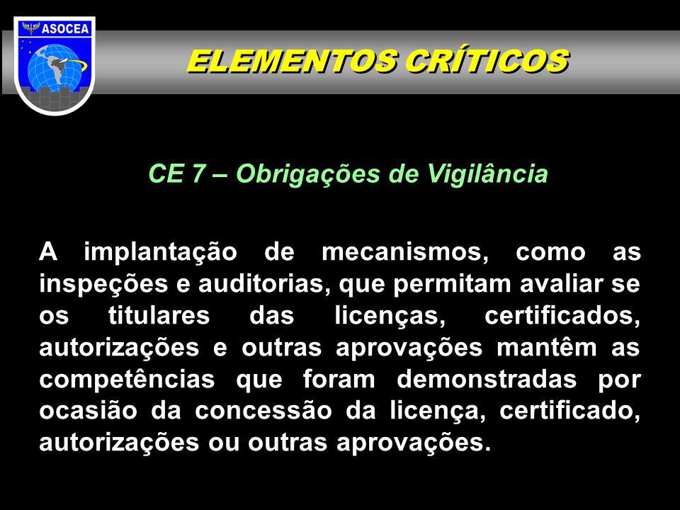 CE 7 – Obrigações de Vigilância