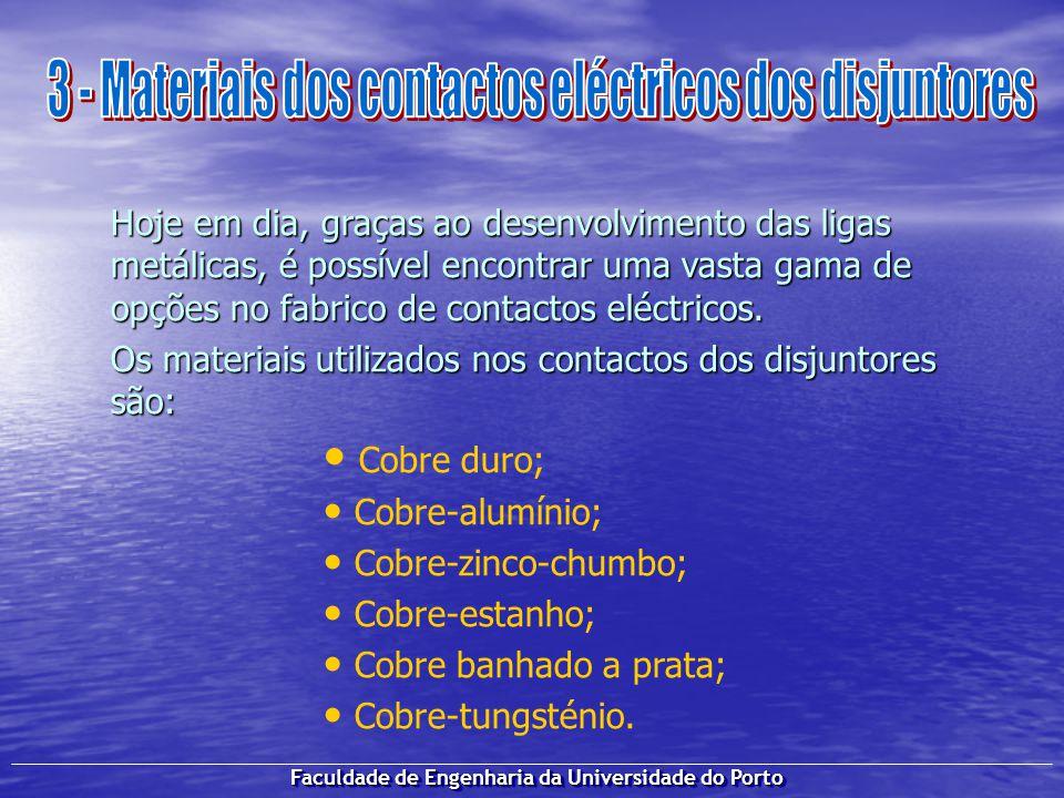 3 - Materiais dos contactos eléctricos dos disjuntores