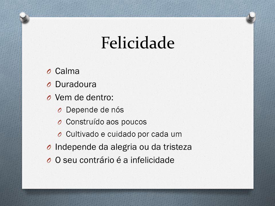 Felicidade Calma Duradoura Vem de dentro: