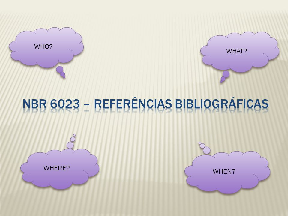 NBR 6023 – REFERÊNCIAS BIBLIOGRÁFICAS