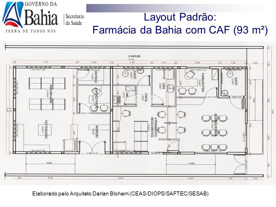Layout Padrão: Farmácia da Bahia com CAF (93 m²)