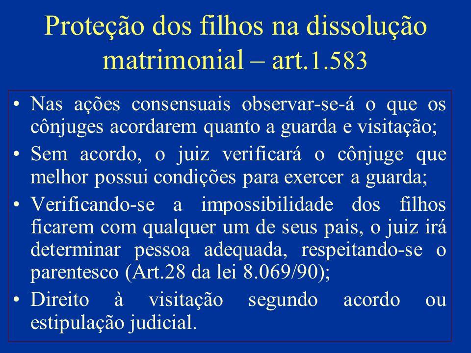 Proteção dos filhos na dissolução matrimonial – art.1.583
