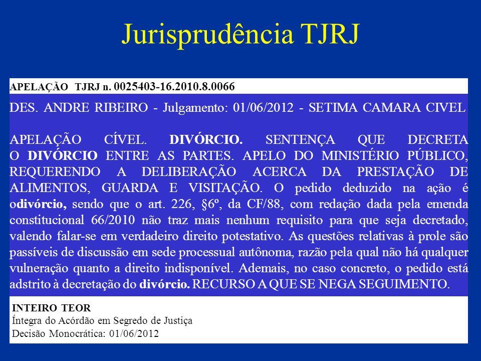Jurisprudência TJRJ APELAÇÃO TJRJ n. 0025403-16.2010.8.0066.