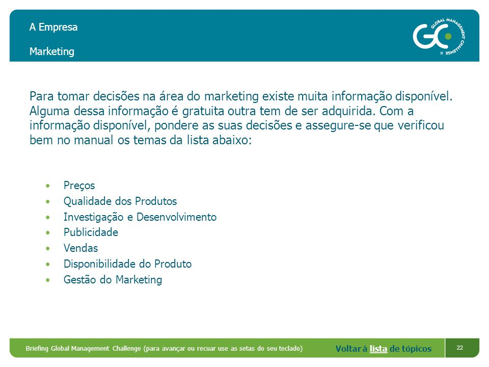 A Empresa Marketing