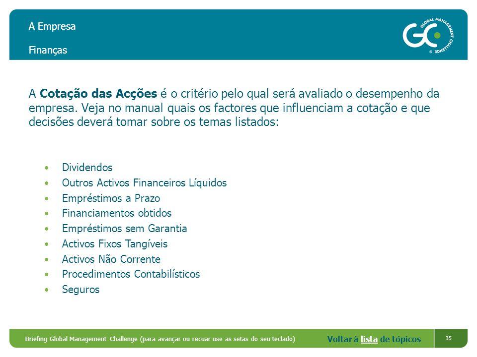 A Empresa Finanças
