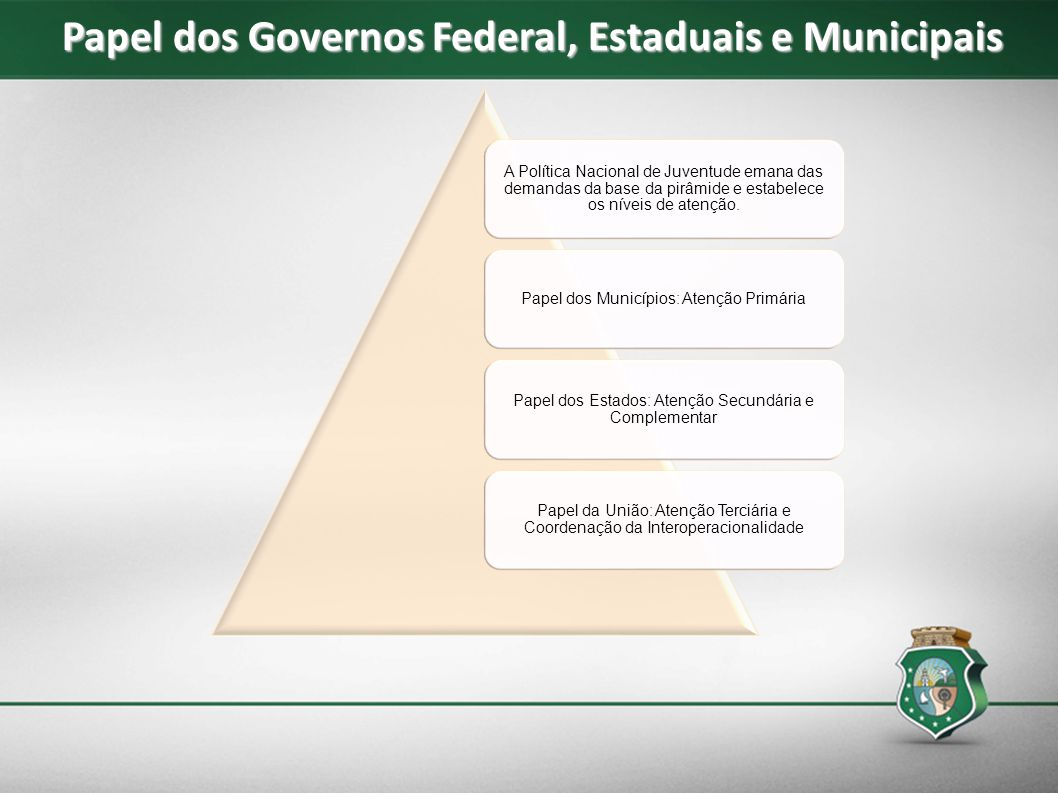 Papel dos Governos Federal, Estaduais e Municipais