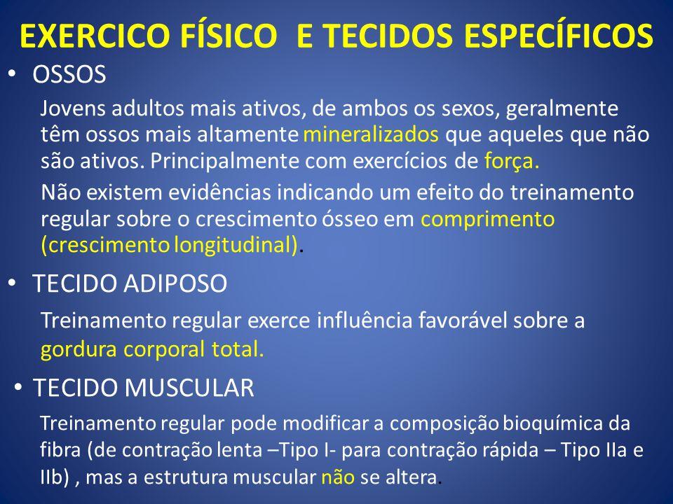 EXERCICO FÍSICO E TECIDOS ESPECÍFICOS