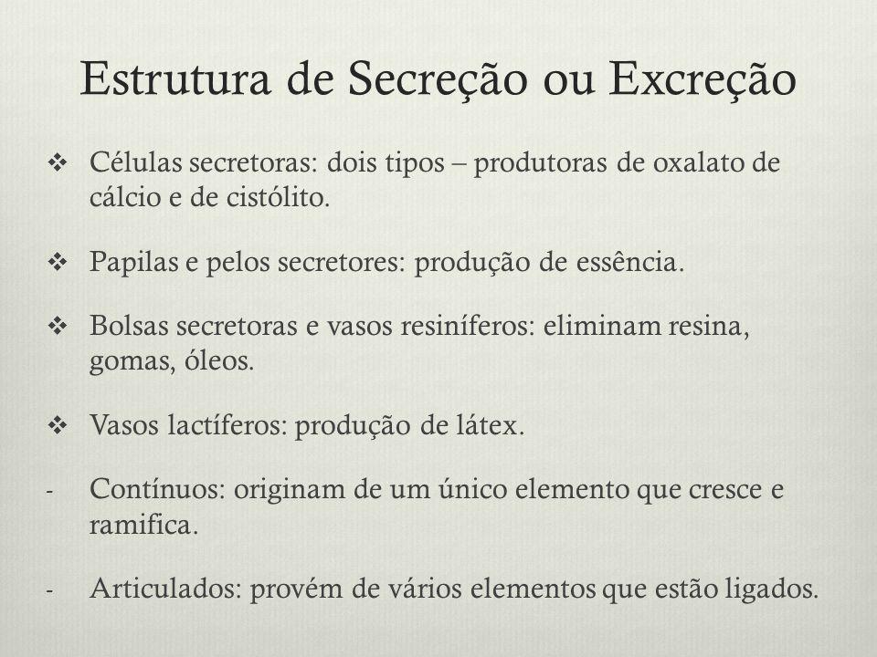 Estrutura de Secreção ou Excreção