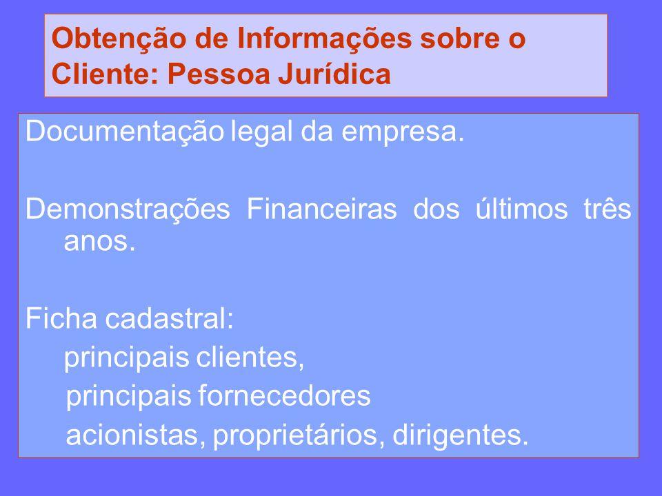 Obtenção de Informações sobre o Cliente: Pessoa Jurídica
