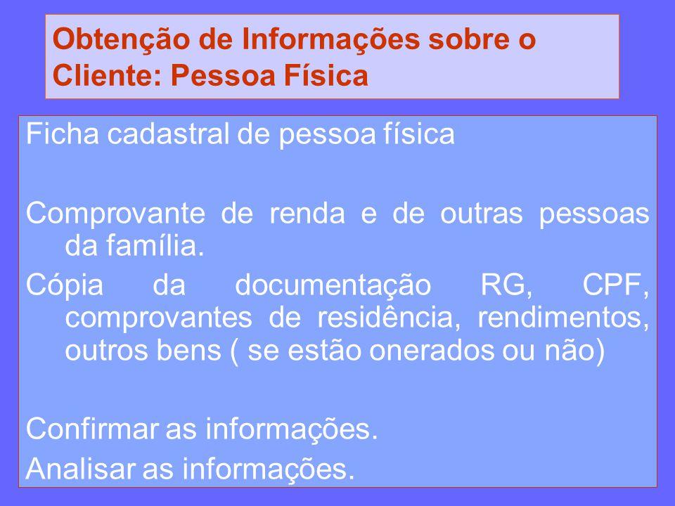 Obtenção de Informações sobre o Cliente: Pessoa Física