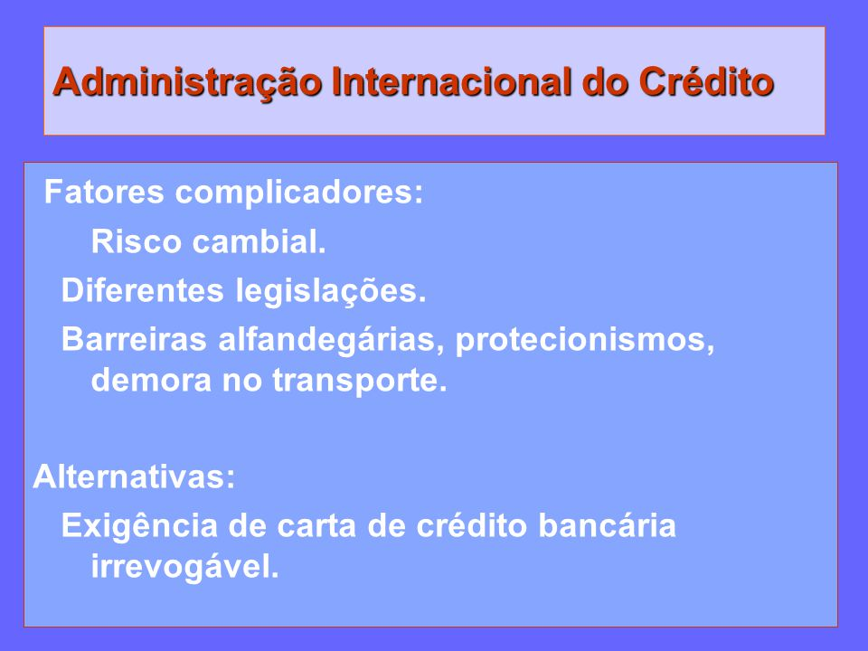 Administração Internacional do Crédito