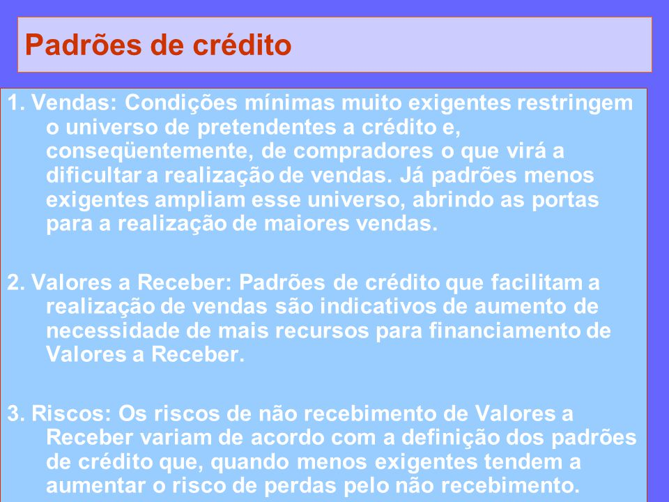 Padrões de crédito