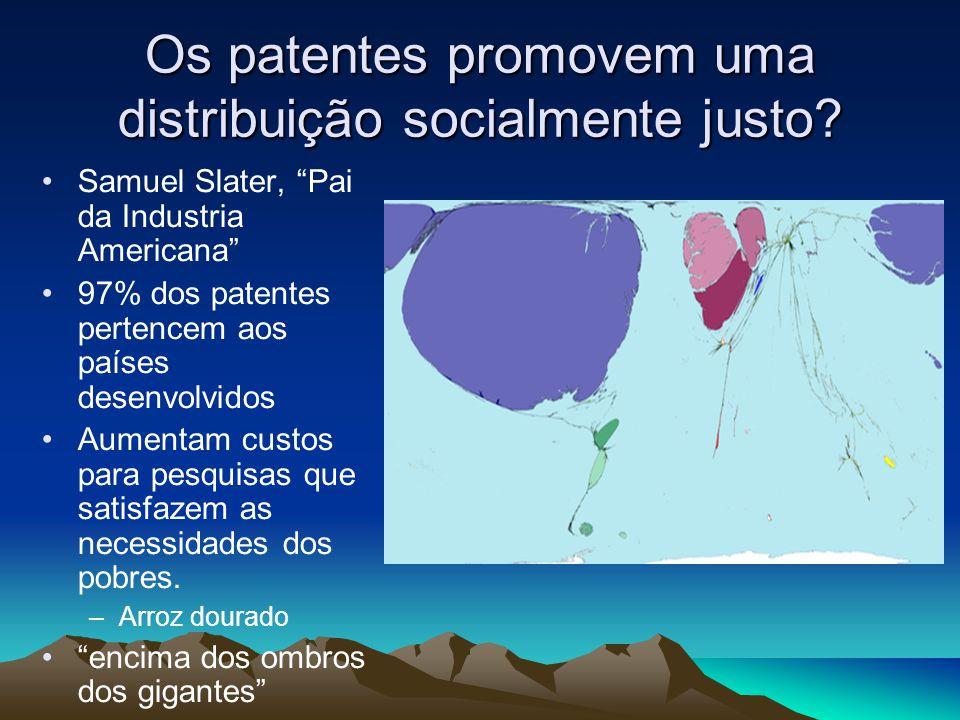 Os patentes promovem uma distribuição socialmente justo