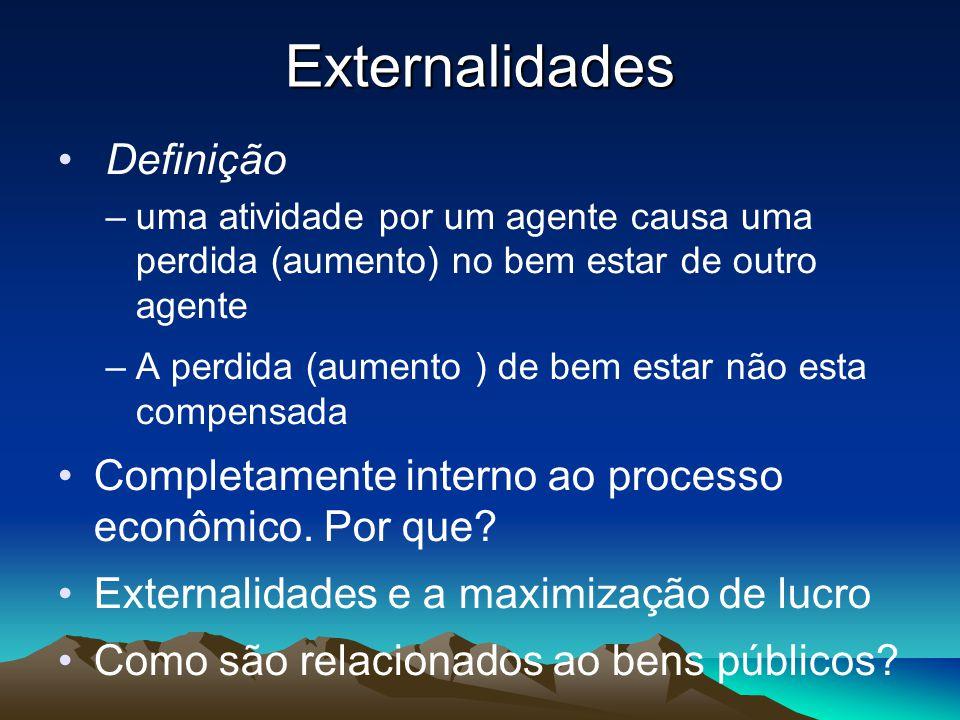 Externalidades Definição
