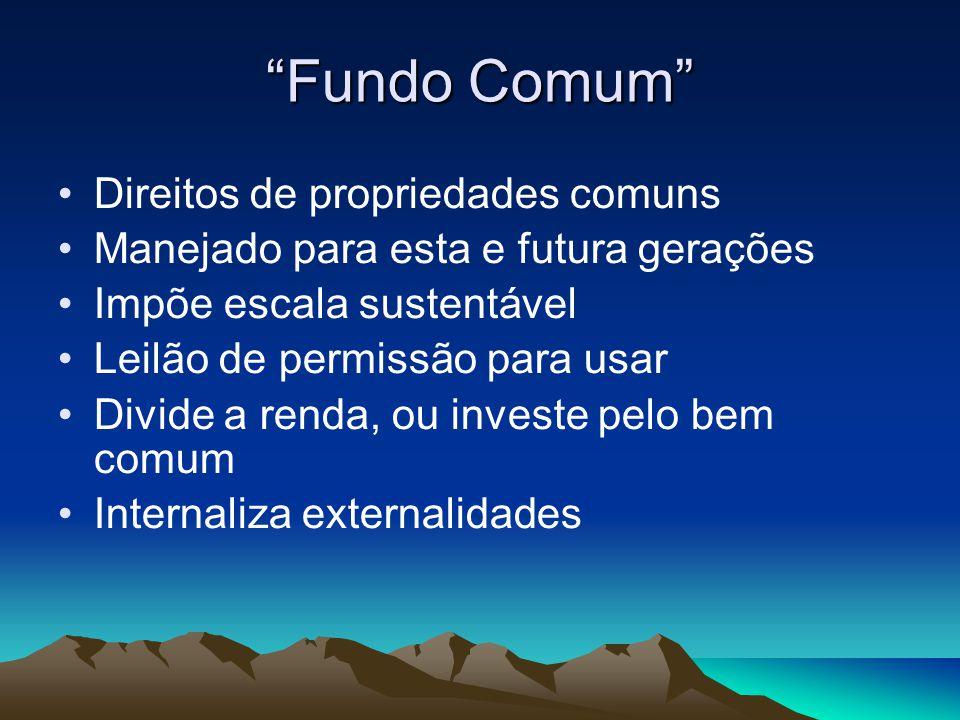 Fundo Comum Direitos de propriedades comuns