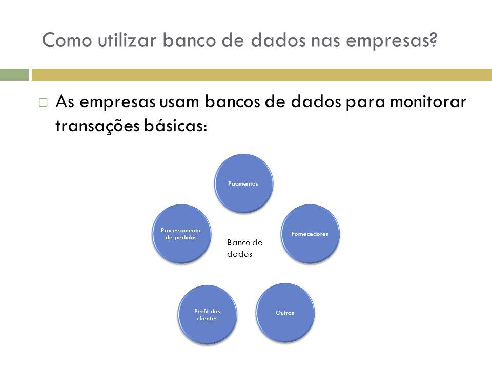 Como utilizar banco de dados nas empresas