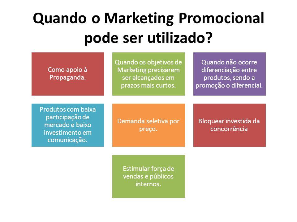 Quando o Marketing Promocional pode ser utilizado