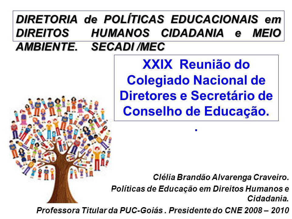 DIRETORIA de POLÍTICAS EDUCACIONAIS em DIREITOS HUMANOS CIDADANIA e MEIO AMBIENTE. SECADI /MEC