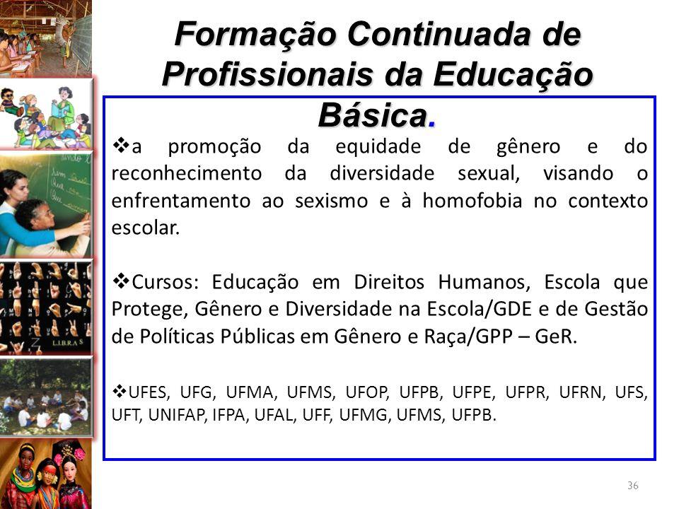 Formação Continuada de Profissionais da Educação Básica.
