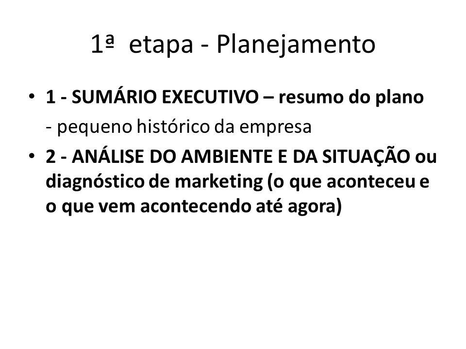 1ª etapa - Planejamento 1 - SUMÁRIO EXECUTIVO – resumo do plano
