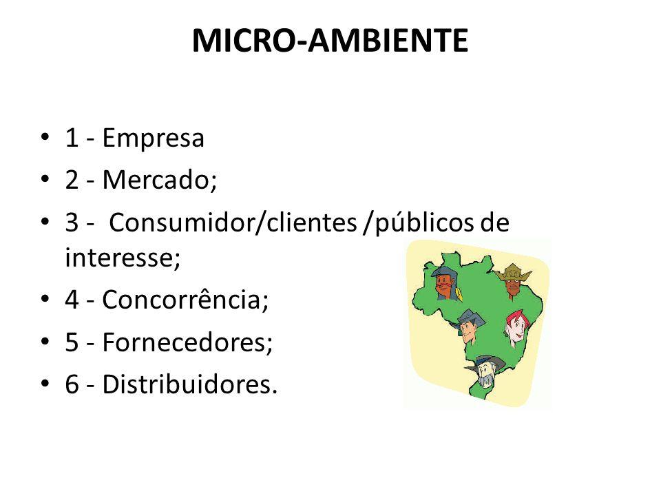 MICRO-AMBIENTE 1 - Empresa 2 - Mercado;