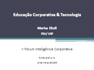 Educação Corporativa & Tecnologia
