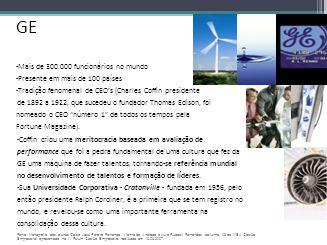 GE -Mais de 300.000 funcionários no mundo