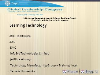 Learning Technology BJC Healthcare CSC EMC