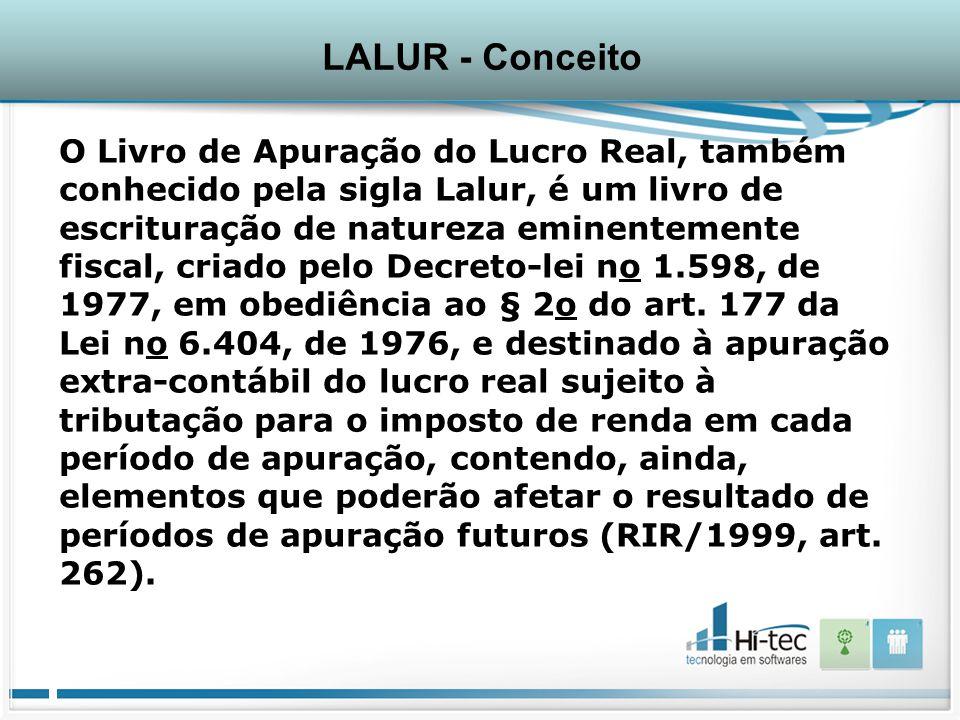 LALUR - Conceito