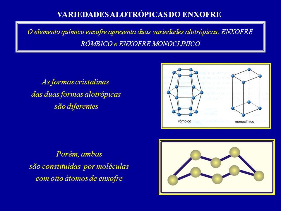 VARIEDADES ALOTRÓPICAS DO ENXOFRE