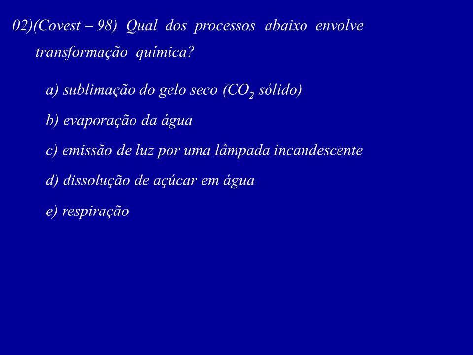 02)(Covest – 98) Qual dos processos abaixo envolve