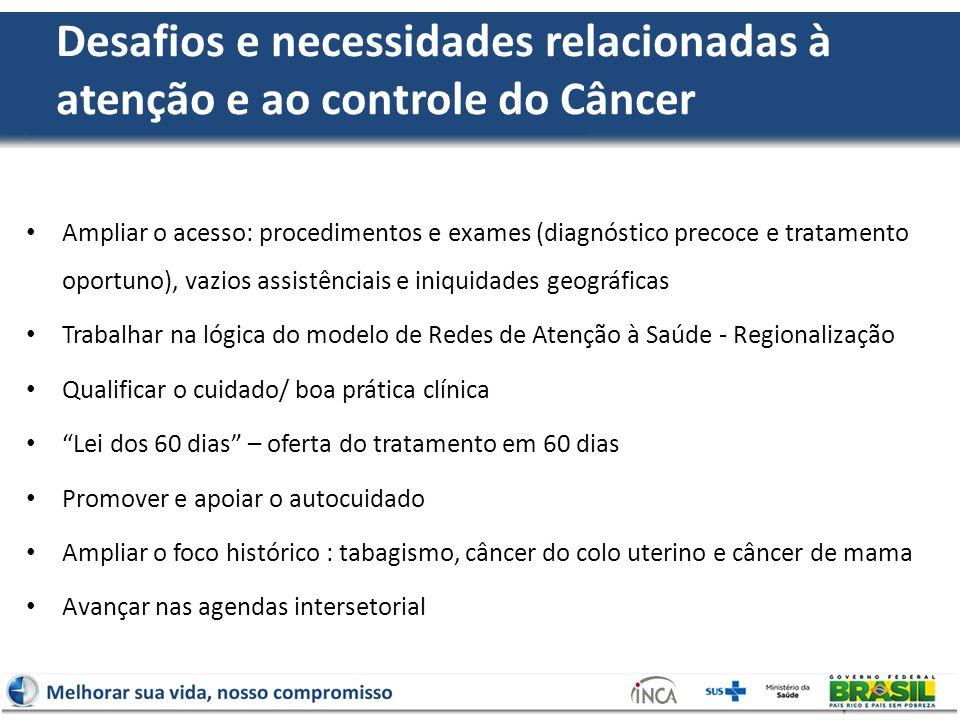 Desafios e necessidades relacionadas à atenção e ao controle do Câncer