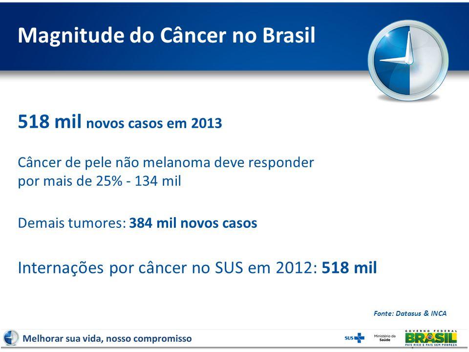 Magnitude do Câncer no Brasil