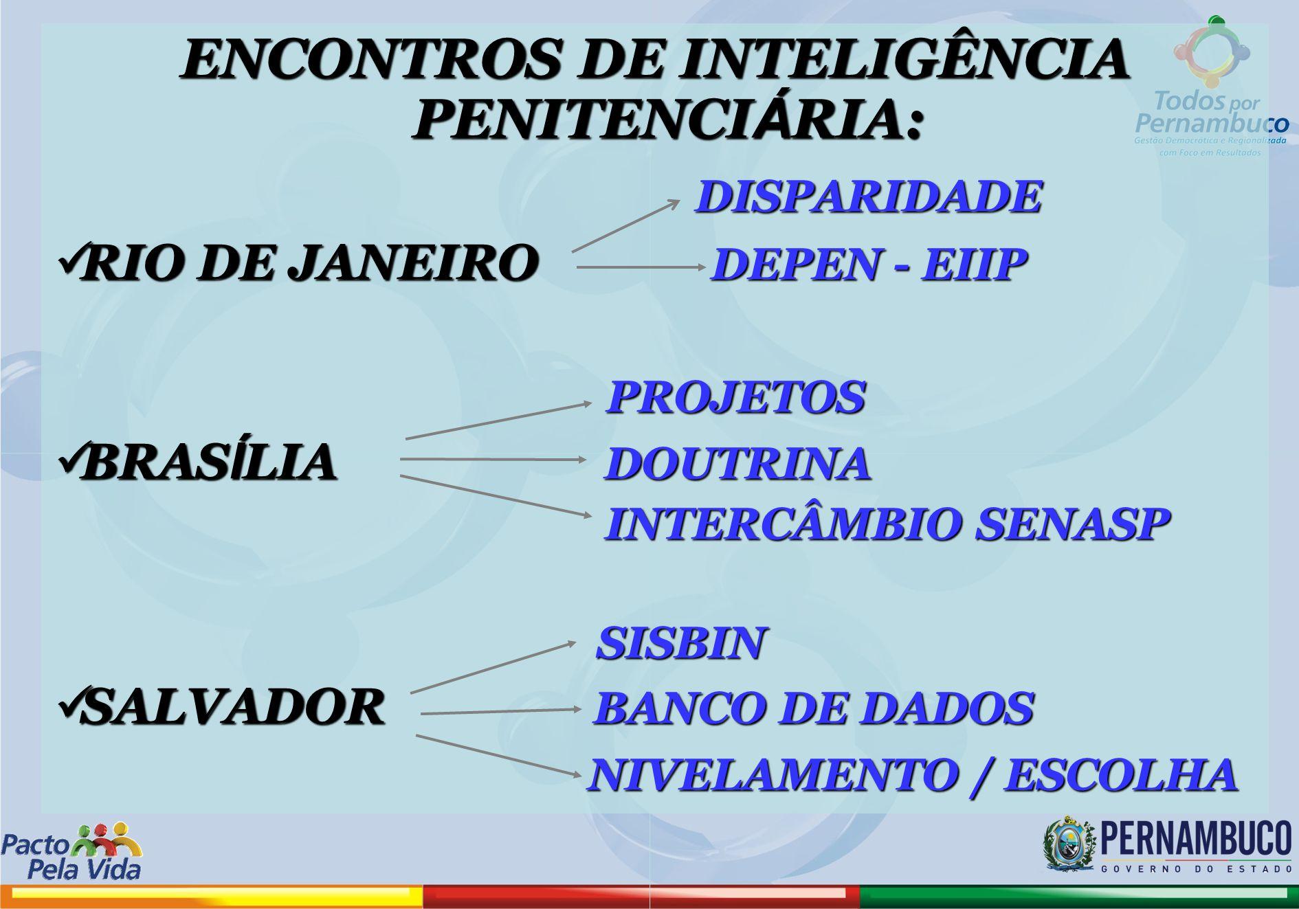 ENCONTROS DE INTELIGÊNCIA PENITENCIÁRIA: