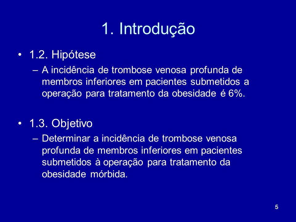 1. Introdução 1.2. Hipótese 1.3. Objetivo