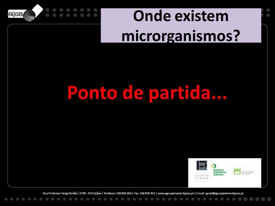 Onde existem microrganismos