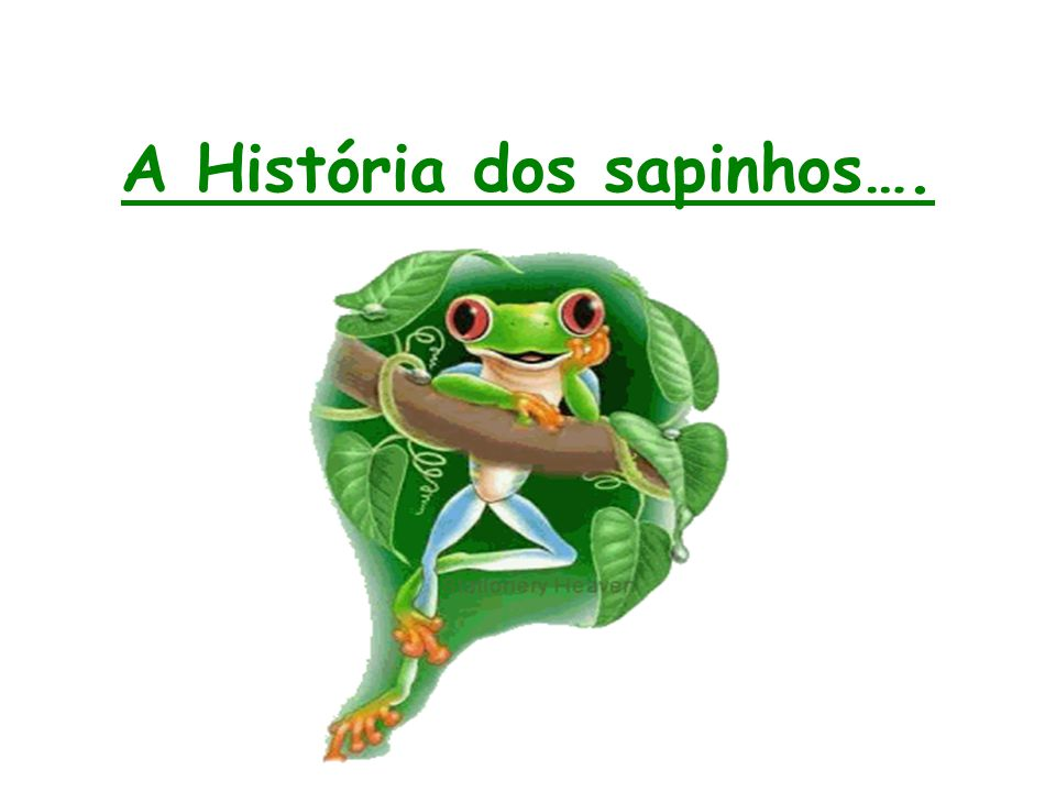 A História dos sapinhos….