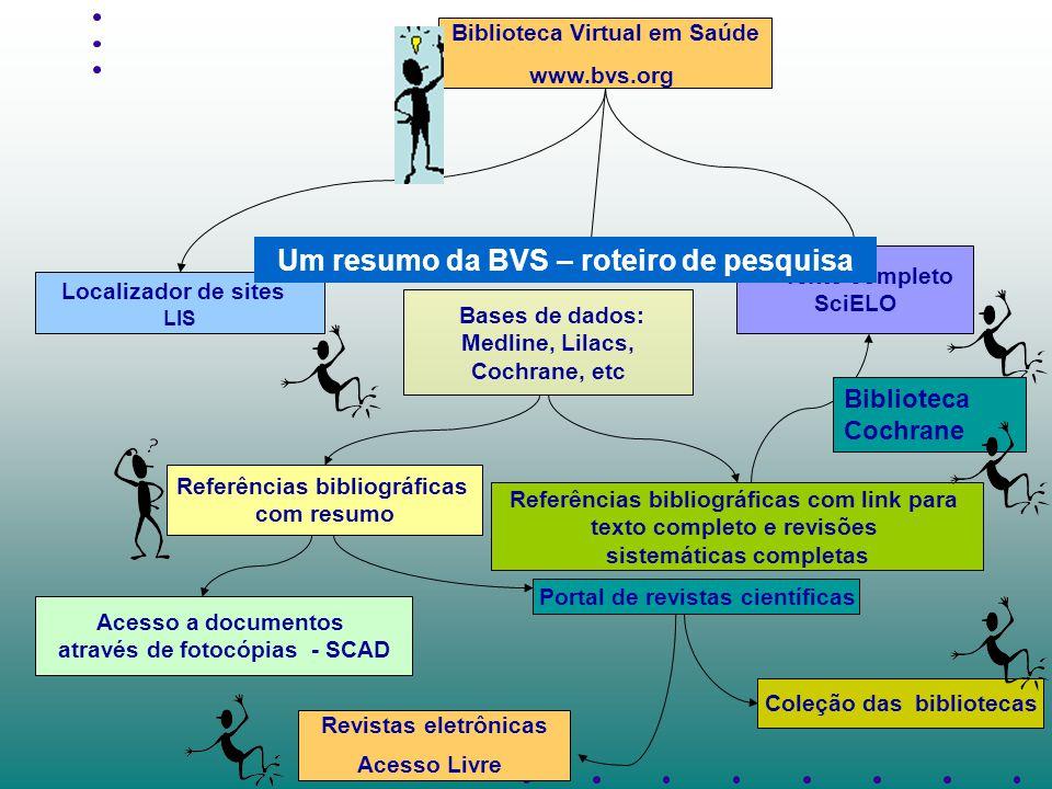 Um resumo da BVS – roteiro de pesquisa