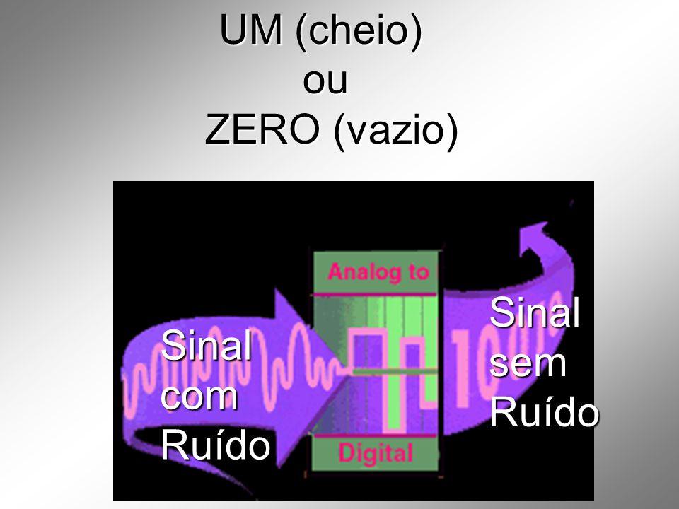 UM (cheio) ou ZERO (vazio) Sinal sem Ruído Sinal com Ruído