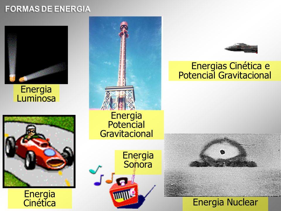 Energias Cinética e Potencial Gravitacional