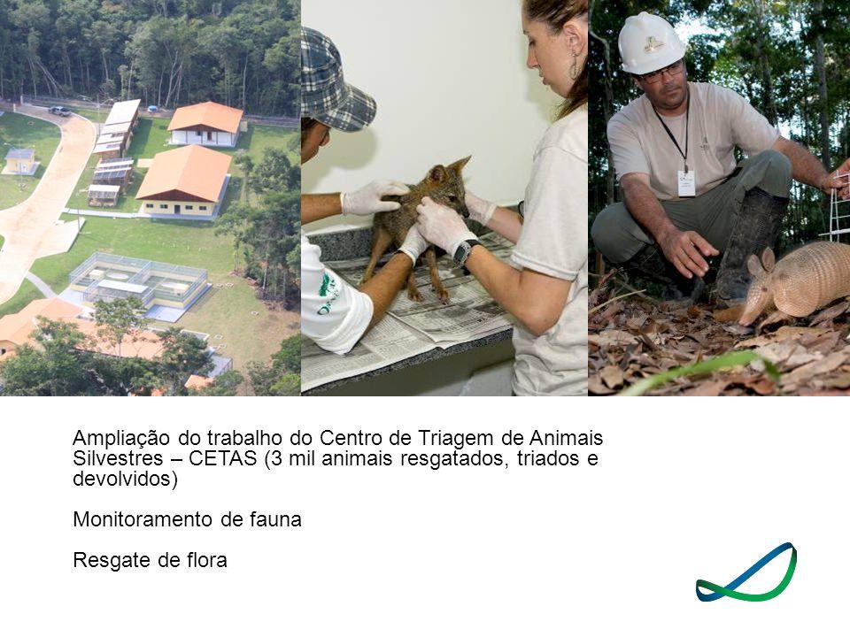 Ampliação do trabalho do Centro de Triagem de Animais Silvestres – CETAS (3 mil animais resgatados, triados e devolvidos)