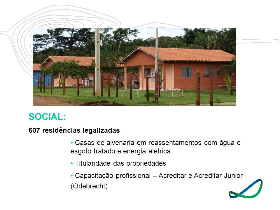 SOCIAL: 607 residências legalizadas