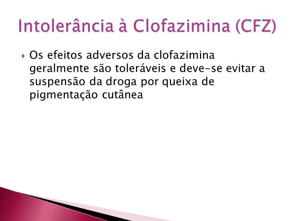 Intolerância à Clofazimina (CFZ)