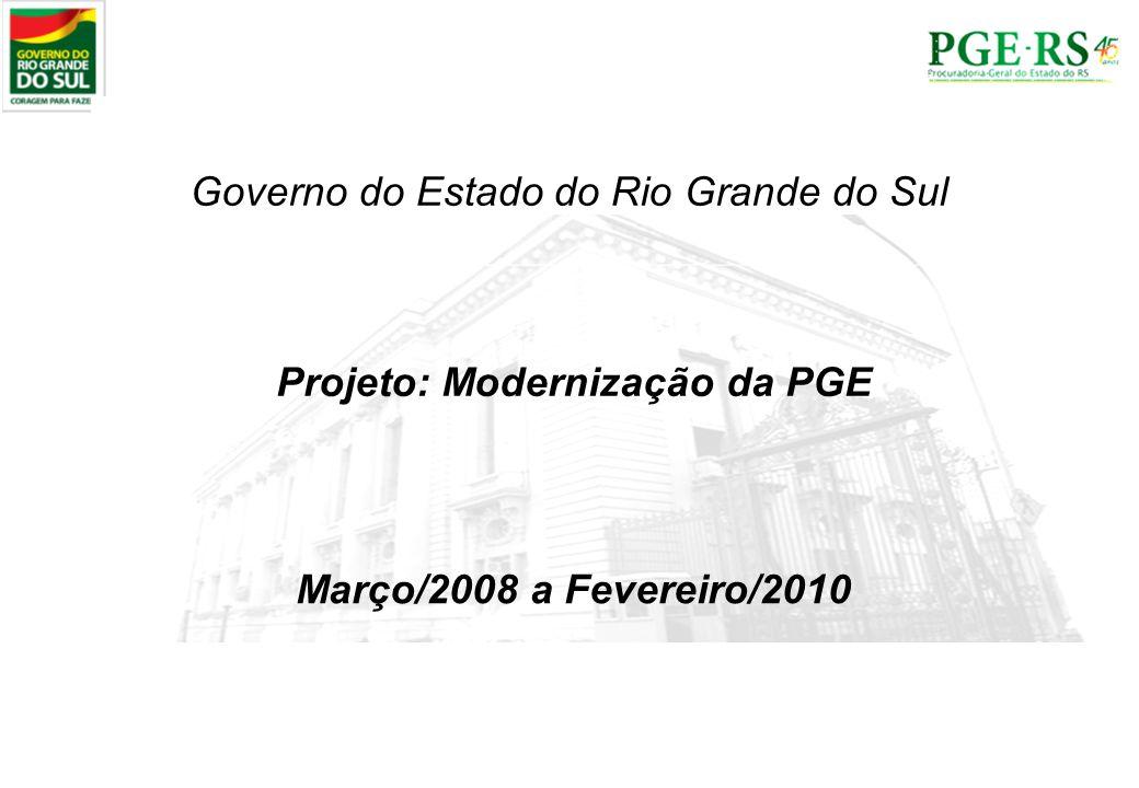 Projeto: Modernização da PGE