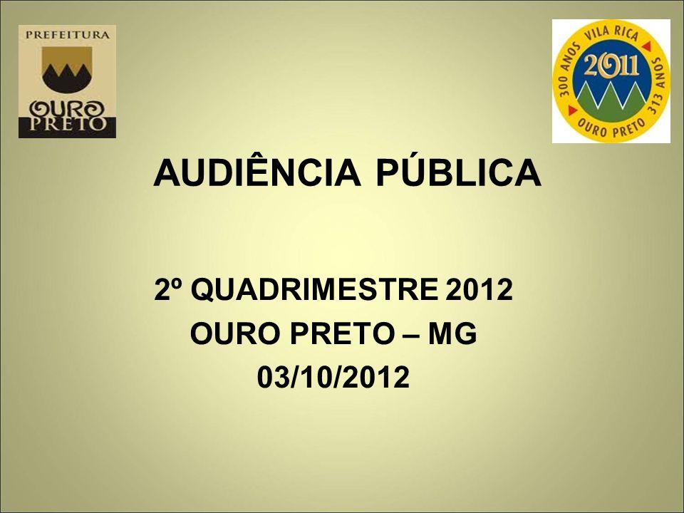 2º QUADRIMESTRE 2012 OURO PRETO – MG 03/10/2012