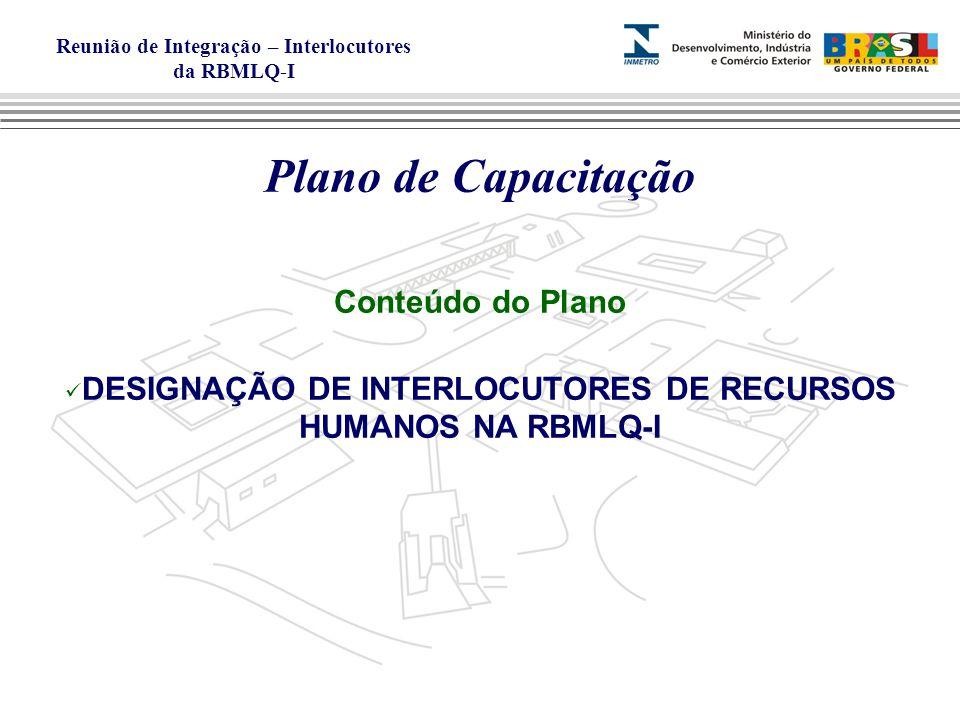 DESIGNAÇÃO DE INTERLOCUTORES DE RECURSOS HUMANOS NA RBMLQ-I